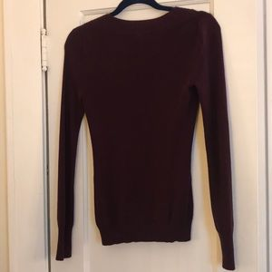 Express Sweaters - Express V Neck Form Fitting Long Sleeve Sweater